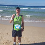 Nurse William after finishing the City to Surf