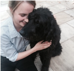 Alex and her lovely dog Wilbur