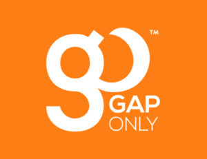 GapOnly Logo on Orange Background