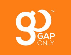 GapOnly Logo on Orange Background